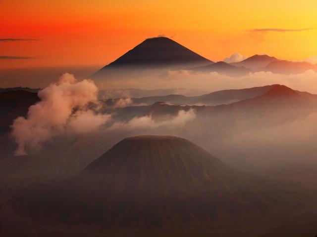 Volcanoes in Bromo Tengger Semeru National Park