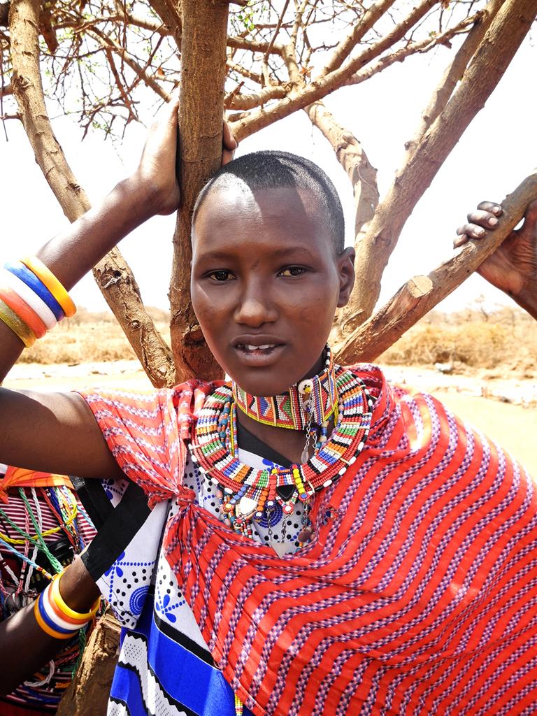 Beautiful Maasai woman