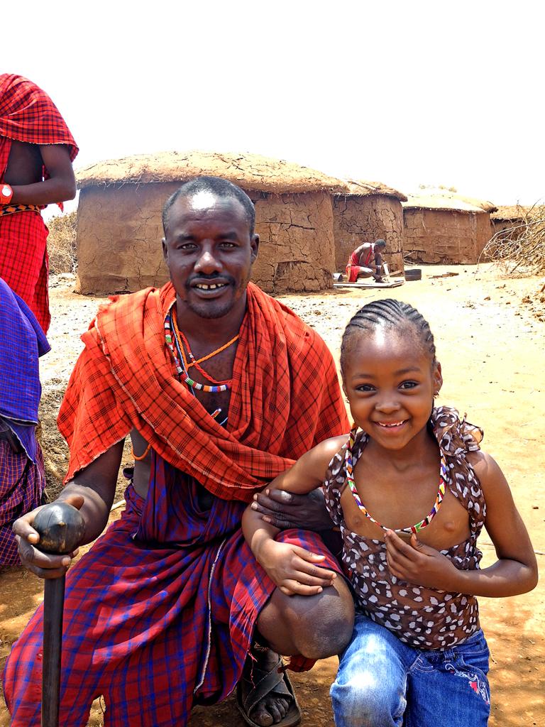 Maasai with my favorite girl in Kenya