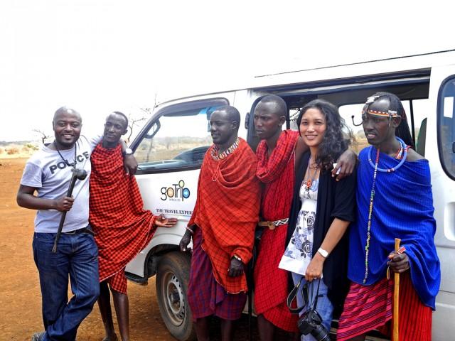 Maasai with us