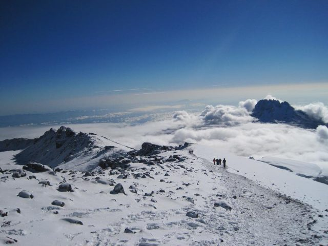 Mount Kilimanjaro – Hikers Underway on Their Journey