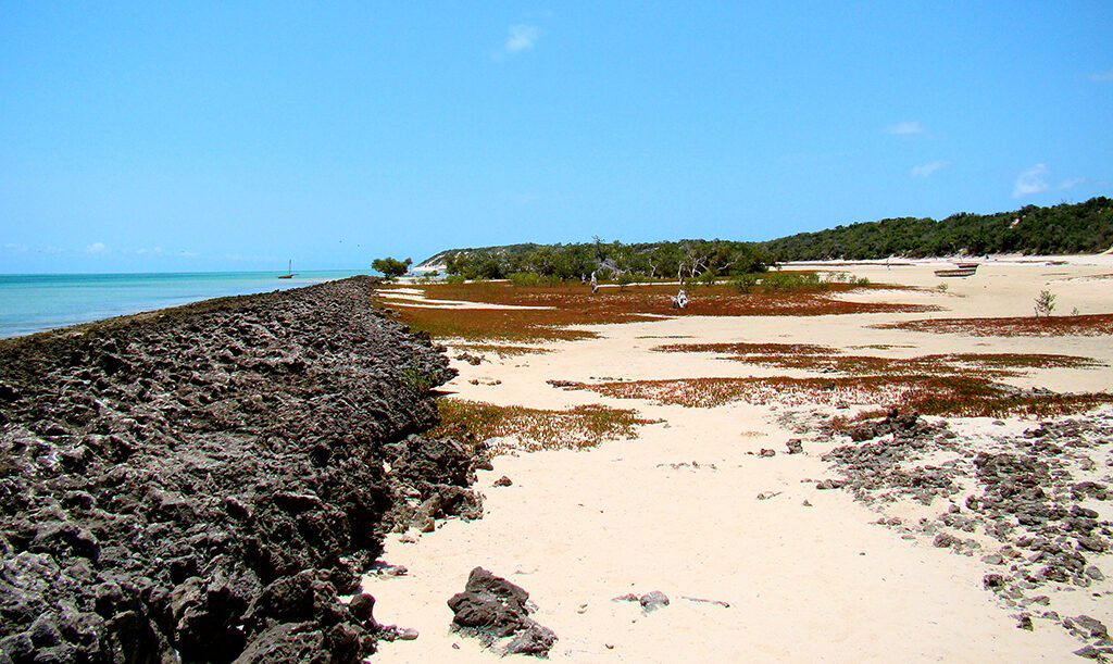 A sandy bay on the west coast